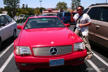 Being PHI is the best! Brod Romy Isidro lent his convertible Mercedes to us while we were in LA! Driving in the freeway with this gorgeous red car was an experience we won't forget! :)