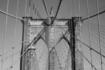 We walked to the Brooklyn bridge just to get this picture taken. Effort!