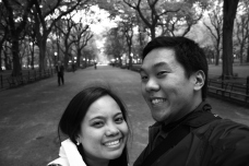 The famous walk in Central Park.