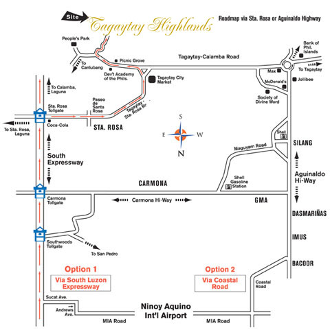 Tagaytay Highlands Map