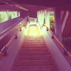 Stairs/Escalator leading to Madre De Dios Chapel