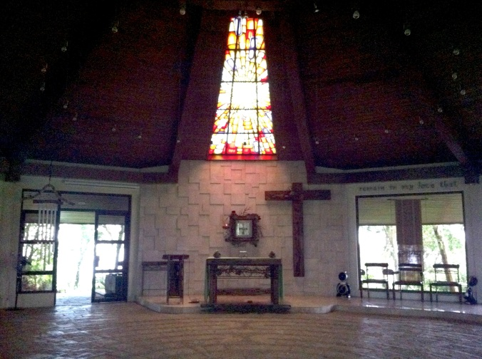 This circular chapel reminds me of the Parish of the Holy Sacrifice in UP Diliman
